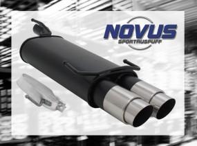Novus Endschalldämpfer 2 x 90mm GP-Design Opel Kadett E Cabrio O