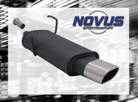 Novus Endschalldämpfer 75 x 135mm 206CC Peugeot 206CC 2AC/2D