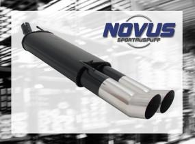Novus Endschalldämpfer 2 x 90mm DTM VW Golf IV Cabrio Volkswagen