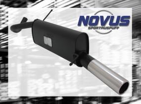 Novus Endschalldämpfer 1 x 76mm VW Polo 6R Volkswagen Polo 6R 6R