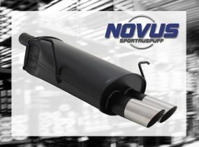 Novus Endschalldämpfer 2 x 76mm MS-Design BMW E46 Touring BMW E4