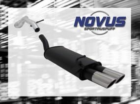Novus Endschalldämpfer 2 x 76mm SR-Design VW Golf IV Volkswagen