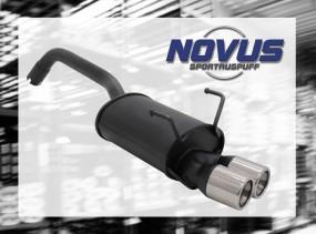 Novus Endschalldämpfer 2 x 76mm M-Design Fiat 500 Fiat 500 312