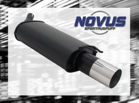 Novus Endschalldämpfer 1 x 90mm RL-Design Renaul Twingo Renault