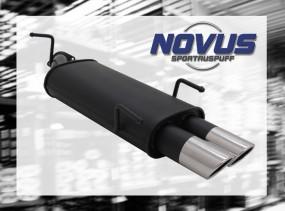 Novus Endschalldämpfer 2 x 76mm SR-Design Opel Vectra B Opel Vec