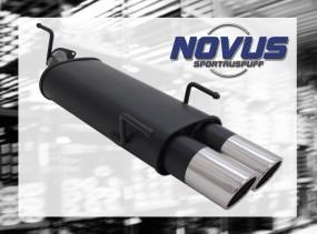 Novus Endschalldämpfer 2 x 90mm SR-Design Opel Vectra B Opel Vec