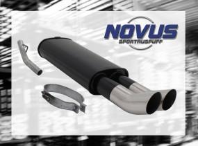 Novus Endschalldämpfer 2 x 76mm DTM Opel Vectra A Opel Vectra A