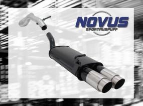 Novus Endschalldämpfer 2 x 90mm GP-Design VW Golf IV Volkswagen