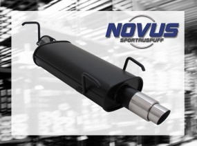Novus Endschalldämpfer 1 x 76mm GP-Design Opel Vectra B Opel Vec