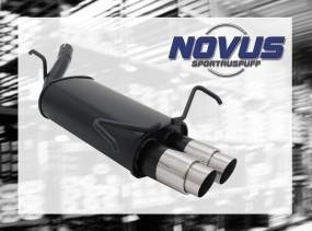 Novus Endschalldämpfer 2 x 76mm GP-Design Opel Corsa C Opel CORS