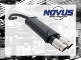 Novus Endschalldämpfer 2 x 90mm GP-Design Skoda Fabia Skoda FABI