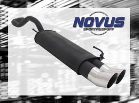Novus Endschalldämpfer 2 x 90mm DTM VW Polo IV Facelift Volkswag