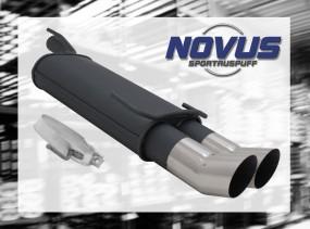 Novus Endschalldämpfer 2 x 90mm DTM Opel Kadett E Cabrio Opel Ka