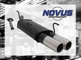 Novus Endschalldämpfer 2 x 90mm M-Design Opel Astra G Caravan Op