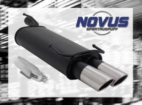 Novus Endschalldämpfer 2 x 76mm SR-Design Opel Kadett E Cabrio O