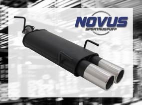 Novus Endschalldämpfer 2 x 90mm M-Design Opel Vectra B Opel Vect