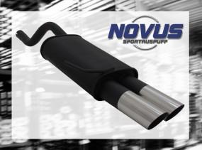 Novus Endschalldämpfer 2 x 76mm MS-Design Clio II Renault Clio I