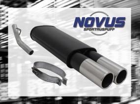 Novus Endschalldämpfer 2 x 90mm M-Design Opel Vectra A Opel Vect