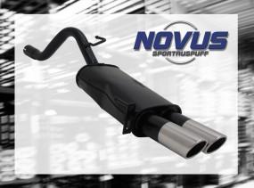 Novus Endschalldämpfer 2 x 76mm SR-Design Fiat Grande Punto Fiat