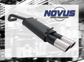 Novus Endschalldämpfer 2 x 90mm SR-Design VW Polo V Facelift Vol