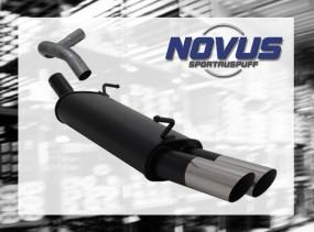 Novus Endschalldämpfer 2 x 76mm MS-Design Seat Ibiza Seat Ibiza