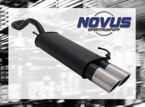 Novus Endschalldämpfer 2 x 90mm SR-Design VW Polo IV Facelift Vo