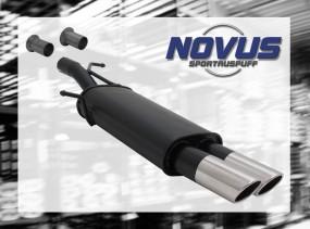Novus Endschalldämpfer 2 x 76mm SR-Design 307 Peugeot 307 3A/C
