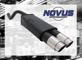Novus Endschalldämpfer 2 x 90mm GP-Design Fiat Punto II Fiat Pun