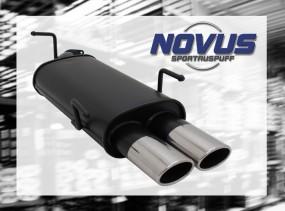 Novus Endschalldämpfer 2 x 85/58mm AM-Design Opel Vectra B Opel