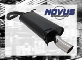 Novus Endschalldämpfer 1 x 60mm S-Design Skoda Fabia Skoda FABIA