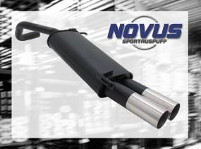 Novus Endschalldämpfer 2 x 76mm RL-Design VW Polo V Facelift Vol