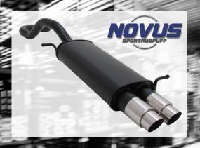 Novus Endschalldämpfer 2 x 76mm GP-Design Seat Ibiza Seat Ibiza