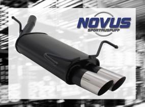 Novus Endschalldämpfer 2 x 76mm MS-Design Opel Corsa C Opel CORS