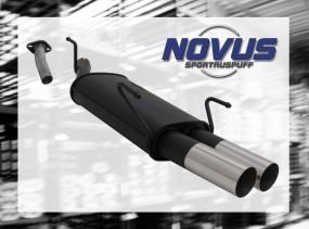 Novus Endschalldämpfer 2 x 76mm RL-Design Opel Astra G Caravan O