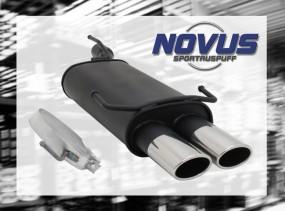 Novus Endschalldämpfer 2 x 85/58mm AM-Design Opel Kadett E Cabri