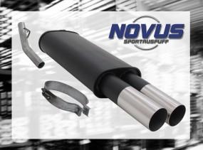 Novus Endschalldämpfer 2 x 76mm RL-Design Opel Vectra A Opel Vec