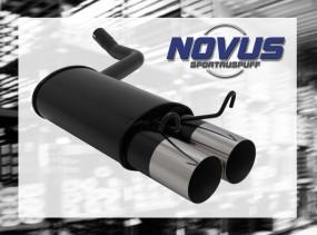Novus Endschalldämpfer 2 x 90mm RL-Design 190E Mercedes 190E W20