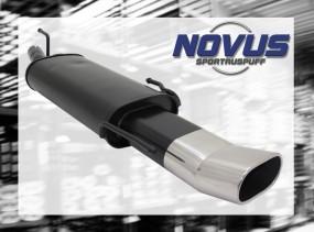 Novus Endschalldämpfer 75 x 135mm DTM Opel Astra F Cabrio Opel A
