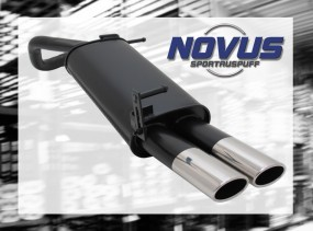 Novus Endschalldämpfer 2 x 85/58mm AM-Design VW Polo V Facelift