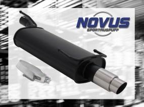 Novus Endschalldämpfer 1 x 76mm GP-Design Opel Kadett E Cabrio O