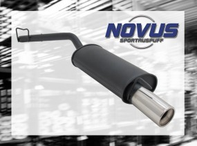 Novus Endschalldämpfer 1 x 90mm Clio I Renault Clio I B/C57