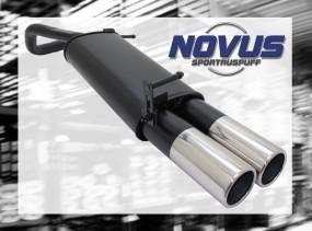 Novus Endschalldämpfer 2 x 90mm M-Design VW Polo V Facelift Volk
