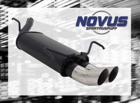 Novus Endschalldämpfer 2 x 76mm DTM Opel Corsa C Opel CORSA C C
