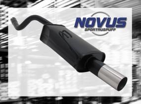 Novus Endschalldämpfer 1 x 76mm RL-Design Fiat Punto II Fiat Pun