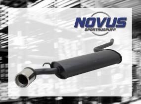 Novus Endschalldämpfer 1 x 90mm Fiat Cinquecento Fiat Cinquecent