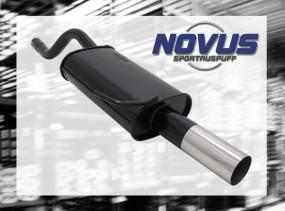 Novus Endschalldämpfer 1 x 76mm RL-Design Clio II Renault Clio I