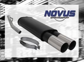 Novus Endschalldämpfer 2 x 90mm RL-Design Opel Vectra A Opel Vec