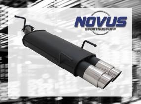 Novus Endschalldämpfer 2 x 90mm GP-Design Opel Vectra B Opel Vec