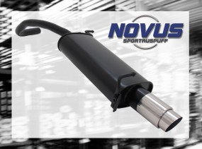 Novus Endschalldämpfer 1 x 90mm GP-Design Skoda Fabia Skoda FABI
