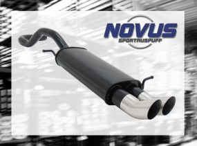 Novus Endschalldämpfer 2 x 76mm DTM Seat Ibiza Seat Ibiza 6K